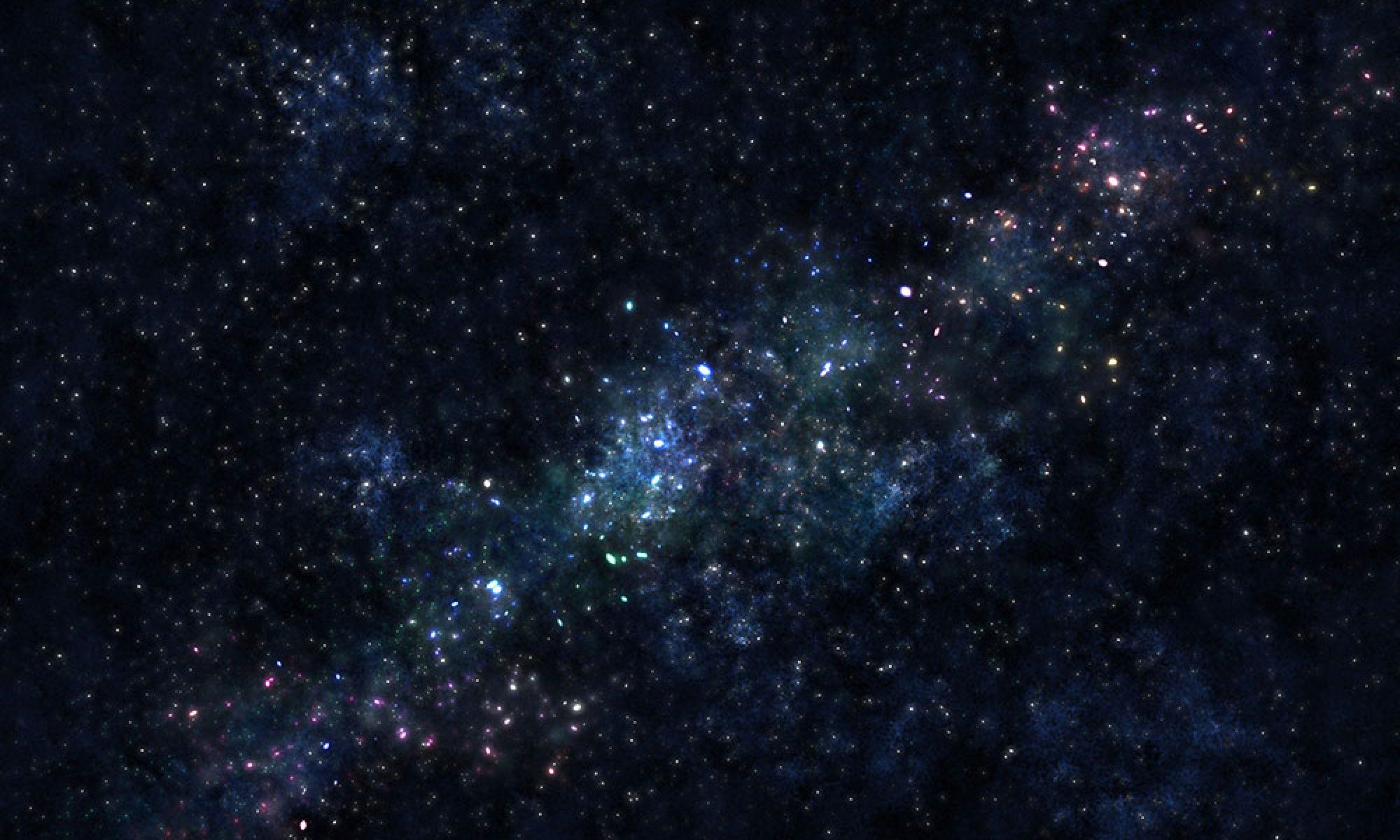 星空を眺めながら